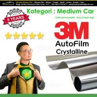 Kaca Film / Kacafilm Mobil 3M Crystalline / Medium Car / Kaca Depan