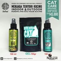 paket pemeliharaan kucing cat repellent & penghilang bau pasir kucing