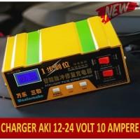 Charger Aki, Cas Aki Otomatis 10A Bisa Cas sampai Aki 120 Ampere - Kuning