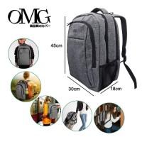 Tas Ransel Backpack Punggung Laptop Sekolah Pria Travel OMG