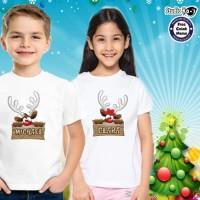 Baju/Kaos Anak Tema NATAL / Christmas -Free Cetak Nama
