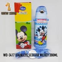 OMWshop Botol Minum Anak Stainless Ori Disney Mickey WD-3417 390ml