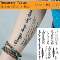 QC-809 TATO TEMPORER / Temporary Tatoo sticker tulisan Word love
