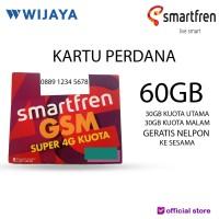 [TERMURAH] PERDANA SMARTFREN 60GB GSM   KARTU / NOMOR PERDANA DATA