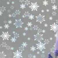 stiker kaca /Motif salju kecil lbr 120.cm