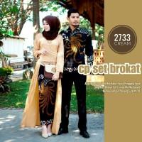 Couple Gamis Batik Set Burkat Modern - Gamis Batik Murah Berkualitas .