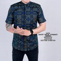 Kemeja Batik Pria Songket Pendek Tosca Original