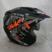 Helm duke 2 kaca (double visor) Black