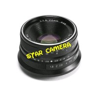 Lensa 7artisan 25mm f 1.8 Fuji Hitam dfg 8948