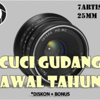 Lensa Manual 7artisans 25MM F1.8 Fuji X FX Mount Black dfg 8957