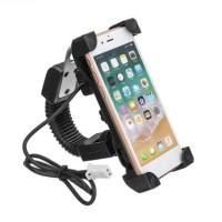 Holder Hp Motor Spion Charger USB GPS Grab Gojek