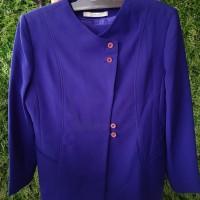 Kemeja Kerja Wanita satu set dengan celana (warna cobalt blue)