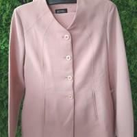 Kemeja Kerja Wanita 1 set dgn celana (warna merah muda)