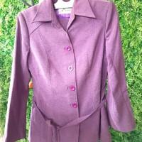 Kemeja Kerja Wanita 1 set dgn celana (warna light purple)