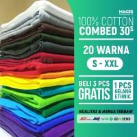 MH - Kaos Polos Cotton Combed 30s - Size XL
