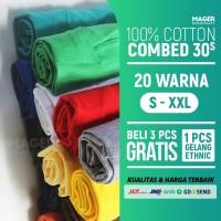 MH - Kaos Polos Cotton Combed 30s - Size L
