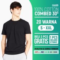 MH - Kaos Polos Cotton Combed 30s - Size M