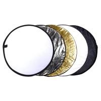 Reflector 5in1 Studio Cahaya Foto 5 in 1 kit Silver gold Hitam putih