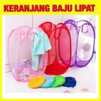 Keranjang Baju Kotor Lipat Polos / Keranjang Cucian Baju Laundry Bag