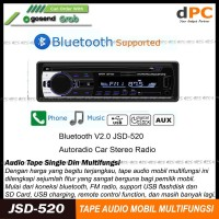 Single Din Audio Tape Mobil LCD Multifungsi Bluetooth USB MP3 FM Radio