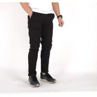 celana panjang chino hitam polos / celana pria chino panjang hitam - L