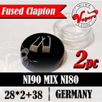 Fused Clapton NI90 Core NI80 28*2+38 |0.15-0.18ohm -isi 2 pcs