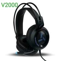 Headset Gaming V200 (Hitam)
