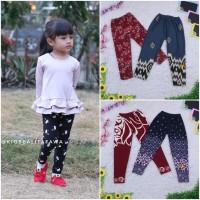 Legging Motif Anak 1-15 Tahun / Celana Panjang Perempuan Leging Salur