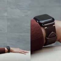 Apple Watch Handmade Leather Strap Premium Buffalo Calf Leather Brown
