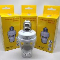 Fitting Lampu LED E27 dengan Sensor Gerak Infrared PIR 110-240V