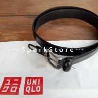 [NEW][BARU] Uniqlo Ikat Pinggang Italian Leather Non Stitched Hitam