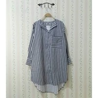 Tunik garis stripe busui big size