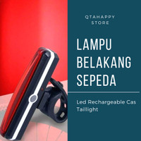 Lampu Belakang Sepeda LED Rechargeable Cas Bicyle Taillight