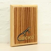 Plus Store Gecko Percussion PAD-2 Zebra Wood Cajon Drum with