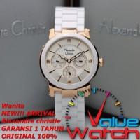 Jam Tangan Wanita Alexandre Christie AC 2517 White Rosegold Original