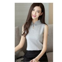Atasan Blouse Cheongsam Wanita Sleeveless Chinese Style Import Impor