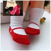kaos kaki anti slip bayi 0-2 tahun motif balerina