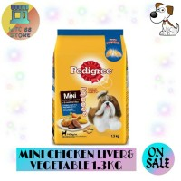 MAKANAN ANJING PEDIGREE MINI CHICKEN LIVER VEGETABLE 1.3KG