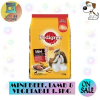 MAKANAN ANJING PEDIGREE MINI BEEF LAMB VEGETABLE 1.3KG