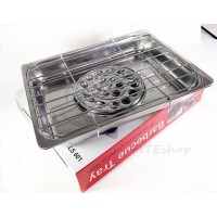 Double-deck Stainless Steel Barbecue Tray Holder