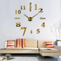 GOLD Jam Dinding Raksasa DIY 80-130cm Diameter