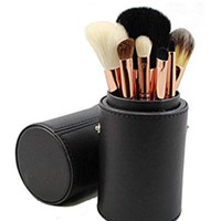 Rose gold brush set