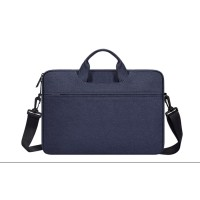 Tas Laptop Softcase 14 inch Nylon Jinjing Slempang Waterproof - Blue