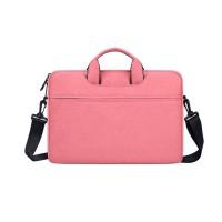 Tas Laptop Softcase 14 inch Nylon Jinjing Slempang Waterproof - Pink