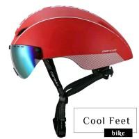 Helm Sepeda Roadbike Cairbull Aero R1 dengan Lensa