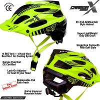Helm sepeda SingleTrek Carbon X5 Stabilo Limited