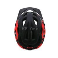 Helm Polygon Bolt Matt Black Red - Hitam dof Merah