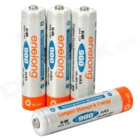 4 PCS Enelong Baterai Cas Ni-Mh Charging AAA 900mAh Rechargeable HR03