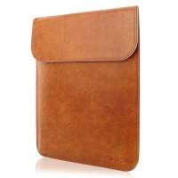 Tas Laptop Sleeve Case For Macbook Air 13'' Leather Waterproof - Brown
