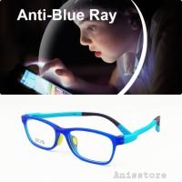 kacamata anak Frame + lensa blue ray anti radiasi komputer